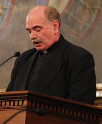 Prior to the House session Wednesday in Harrisburg, the Rev. James Burdess of St. Joseph's Church in Summit Hill, provided the opening prayer. He also ended with the benediction.