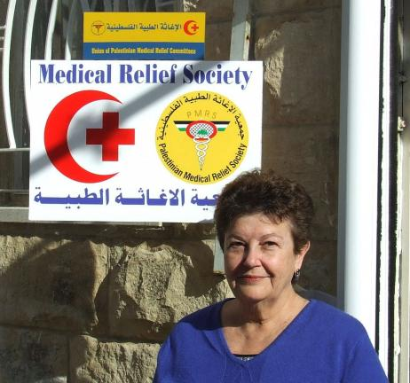 SPECIAL TO THE TIMES NEWS Dr. Ellen Isaacs outside a medical clinic in Nablus, West Bank. She will share thoughts and photos of her visits to the Occupied Palestine Territory in the West Bank on October 28 at the Mauch Chunk Museum and Cultural…