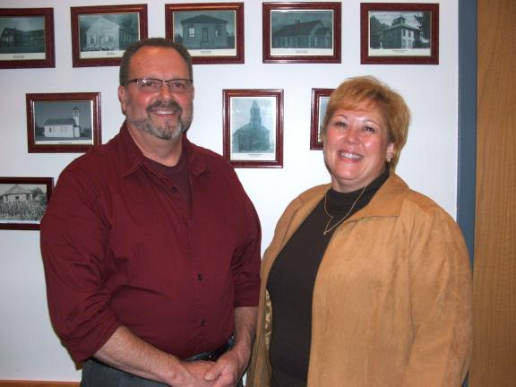 MICHAEL A. HEERY/SPECIAL TO THE TIMES NEWS Lehighton Area School Board has hired Sean LeDonne, right, as supervisor of special services. She replaces Shaun McElmoyle, who resigned his position in August to become special education supervisor at…