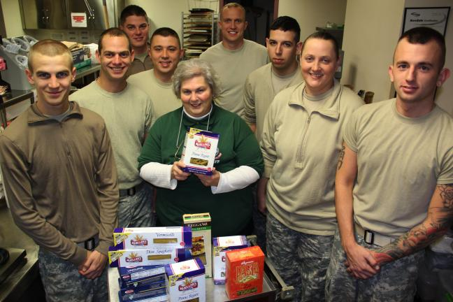 ANDREW LEIBENGUTH/TIMES NEWS Soldiers with the Schuylkill Haven Army Reserve unit spent their drill weekend helping the Tamaqua Salvation Army go door-to-door - providing hot meals and coffee to homes in Schuylkill and Carbon without power. In all,…