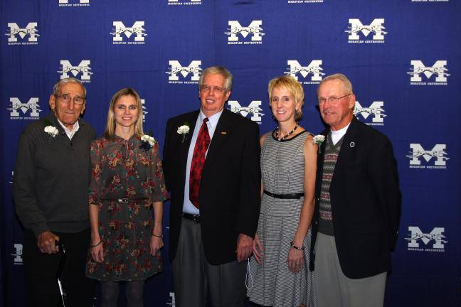 Photo courtesy of Moravian College The 2012 Moravian College Athletic Hall of Fame inductees were, from left, Tony Jaso, Heidi Wolfsberger Peoples, Fred Reinhard, Tara Wartman McClimon and Bill Marsh.