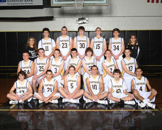picture courtesy of Flexer Photography Panther Valley boys basketball team members include, front row, from left, Pat Owens, Mike Horan, Jake Kusko, Matt Levitt, Mike Weng and Calagero Keo. Middle row, Kyle Ferryman, James Campbell, Jake Szczecina,…