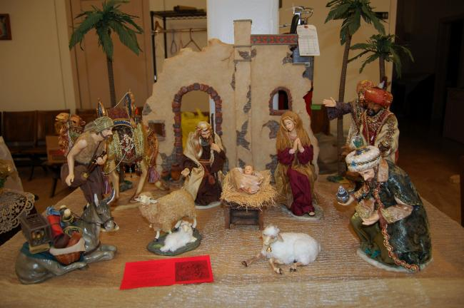 KAREN CIMMS/TIMES NEWS FILE PHOTO This detailed creche is an example of some of the nativities that will be on display this weekend at the Lutheran Church of St. John in the Heights in Jim Thorpe.