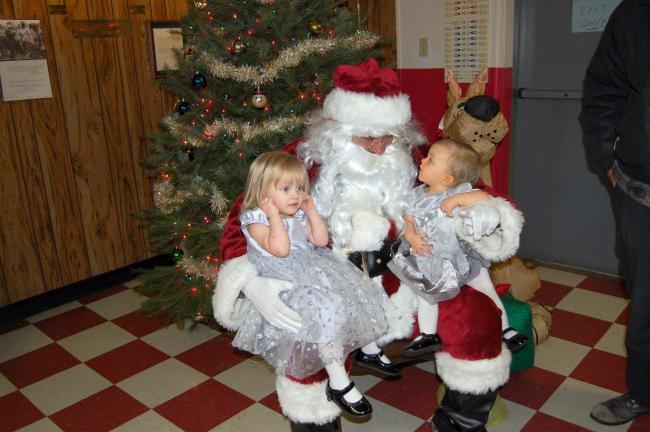 Audriana and Sydney Wertman came to the Post to have their pictures taken with Santa Claus.