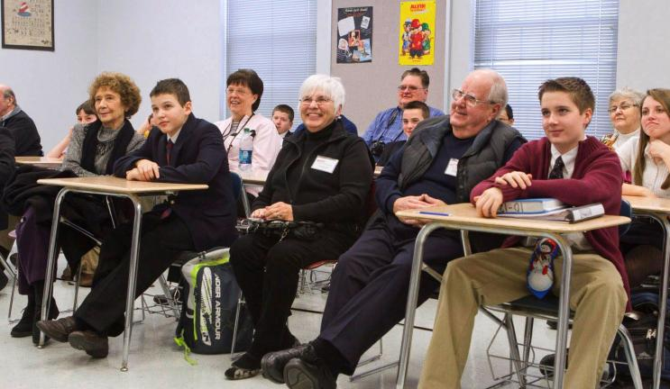 SUBMITTED PHOTO Grandparents and grandfriends attend a class with MMI Preparatory School students.
