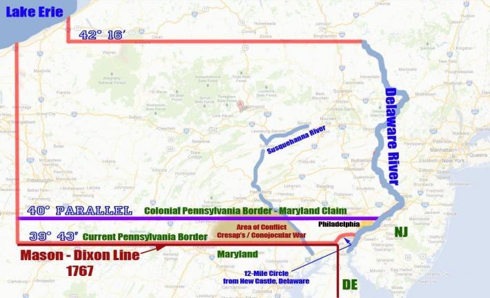 How The MasonDixon Line Preserved Pennsylvania Times News Online - Us map mason dixon line