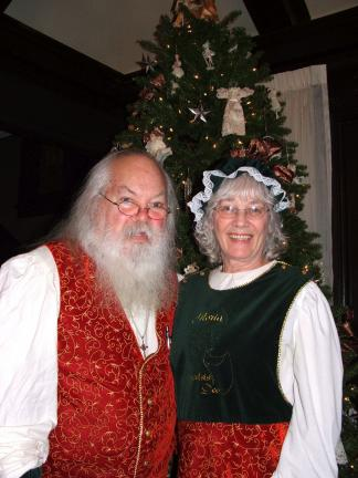 "MICHAEL A. HEERY/SPECIAL TO THE TIMES NEWS After several years away from the area, the ""Real Mr. and Mrs. Santa A. Claus"" have returned to the Lehigh Valley. Their busy Christmas season schedule includes appearances at tree lightings, parades,…"
