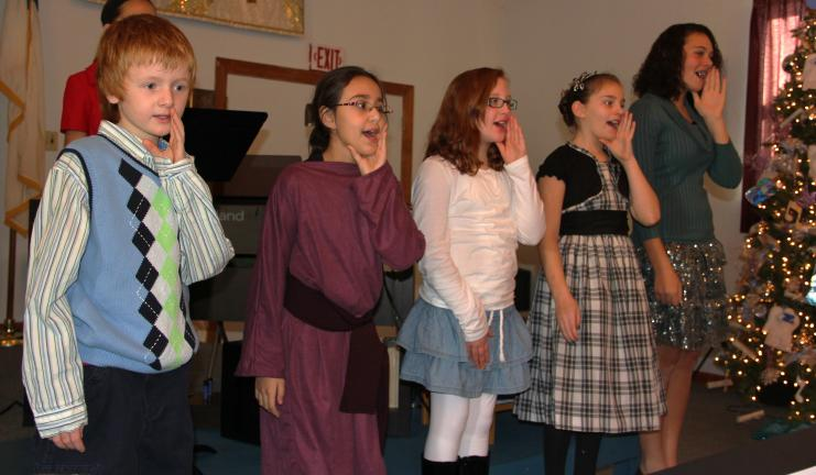 "ANDREW LEIBENGUTH/TIMES NEWS Members of the New Life Assembly of God's Youth Group presented a performance titled "" The Not So Silent Night"" recently at their church. The performance included comical holiday clatter and other activities encouraged…"