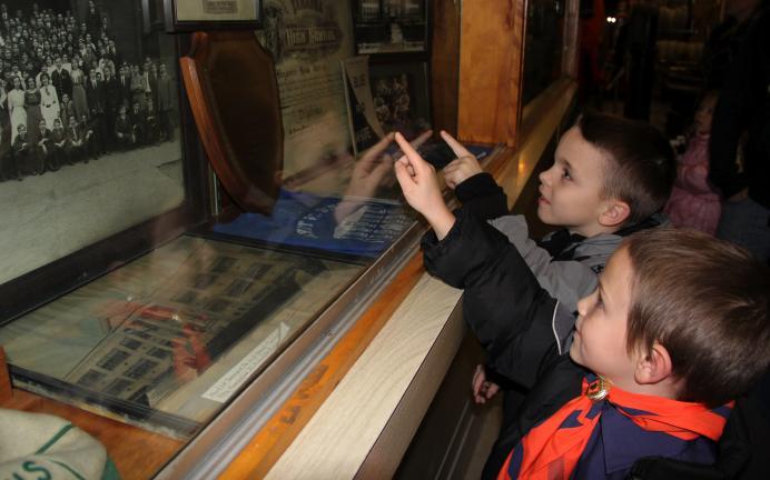 ANDREW LEIBENGUTH/TIMES NEWS Members and leaders with the Tamaqua Boy and Cub Scouts were the last group to visit the Tamaqua Historical Society's museum prior to about a year's worth of future renovations to be done at the museum. Dale…