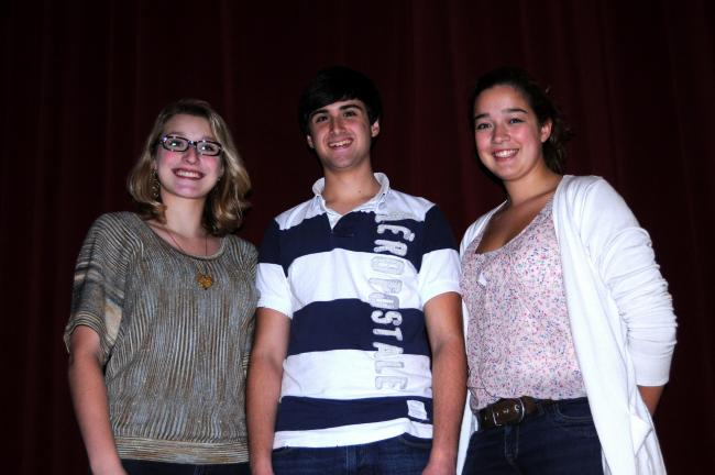 RON GOWER/TIMES NEWS Lehighton Area High School students named to District 10 Chorus are, l-r, Elyse Kistler, a senior; Noah Williams, a sophomore, and Schyler Cordoba, a junior.
