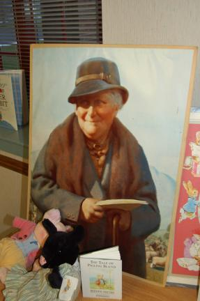 "LINDA KOEHLER/TIMES NEWS This is a copy of a portrait of Beatrix Potter, English author of ""The Tale of Peter Rabbit,"" other beloved children's books, and a natural scientist and conservationist."