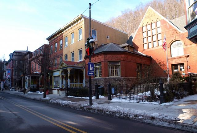 AL ZAGOFSKY/SPECIAL TO THE TIMES NEWS As you walk west past the Dimmick Memorial Library, your guide is more than likely to proudly explain that you are entering Millionaire's Row, and that In the 1880s, Mauch Chunk had the most millionaires per…