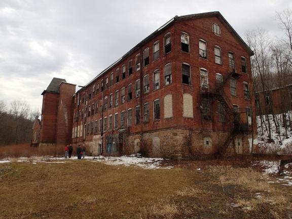 AL ZAGOFSKYI/SPECIAL TO THE TIMES NEWS The Silk Mill building, the largest building in Jim Thorpe, and the former home of its largest manufacturing business, although closed and boarded for 35 years may be looking at a second life-at least that is…