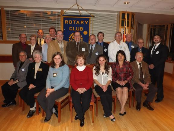 MICHAEL A. HEERY/SPECIAL TO THE TIMES NEWS Lehighton and Slatington Rotary Clubs held a joint meeting last Thursday evening at Blue Ridge Country Club in Palmerton. Seated front row, left to right, are Sal Somma, Barbara Belon, Becky Wanamaker,…