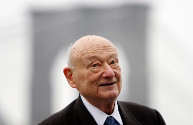 AP PHOTO In this March 23, 2010 file photo, former New York Mayor Ed Koch speaks during a publicity event in New York.