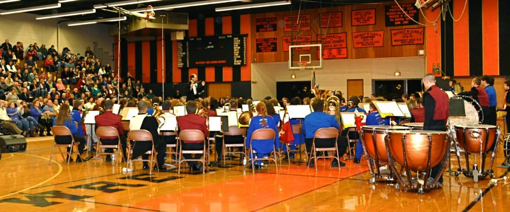 VICTOR IZZO/SPECIAL TO THE TIMES NEWS The 53rd Annual Carbon County Band Festival was held last Thursday evening in the Weatherly Area Middle School Gymnasium with a near-capacity audience in attendance.