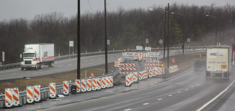 ANDREW LEIBENGUTH/TIMES NEWS Major construction work on Interstate 81 in Delano Township will require single lane conditions for work related to the ongoing Interstate 81 Bridge Rehabilitation Project. Starting as soon as tomorrow, the southbound…