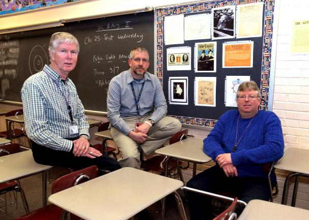 AL ZAGOFSKY/SPECIAL TO THE TIMES NEWS Coordinating the National History Day Region #6 Competition held at Jim Thorpe High School on Saturday, March 16 are (left to right): Bill Allison, a member of the Mauch Chunk Historical Society, on the…