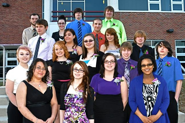 VICTOR IZZO/SPECIAL TO THE TIMES NEWS The newest NTHS Inductees attending CCTI's 23rd Annual Membership Induction and Installation Ceremony and Banquet for the National Technical Honor Society were left to right, 1st row : Cheyenne McKinley, Rachel…