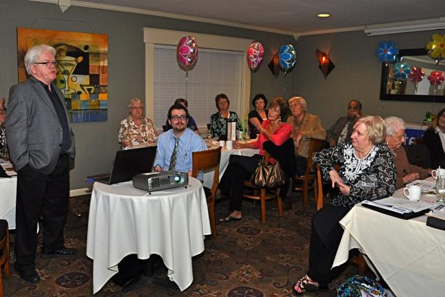 VICTOR IZZO/SPECIAL TO THE TIMES NEWS During the 2013 Annual Dinner Meeting of the United Way of Carbon County held at Macaluso's at The Lantern, Nesquehoning, those attending watched a presentation about CTC Manufacturing, Inc. by the guest speaker…