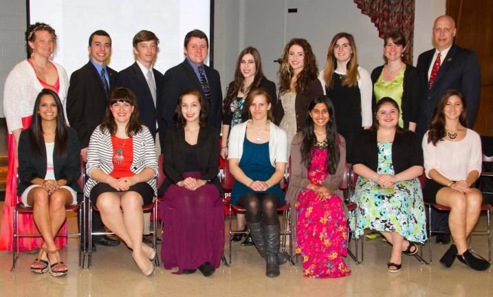 MMI Preparatory School held inductions for its chapter of the National Art Honor Society on April 18. Induction ceremony participants included, front row, from left: Lindsey Joseph, Cindi Landmesser, Alexandra Baran, Chiarra Overpeck, Farrah Qadri,…