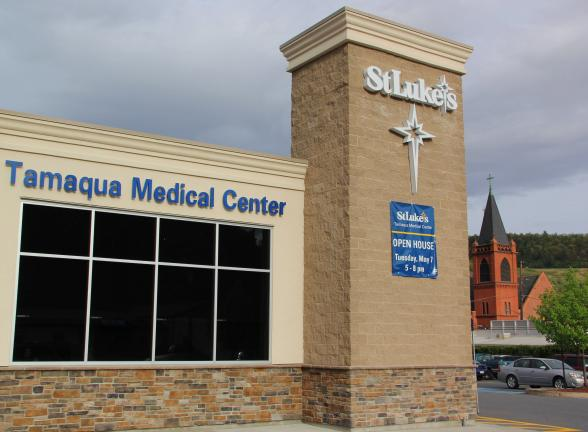 ANDREW LEIBENGUTH/TIMES NEWS St. Luke's new Tamaqua Medical Center, located at 137 Railroad St. in Tamaqua.