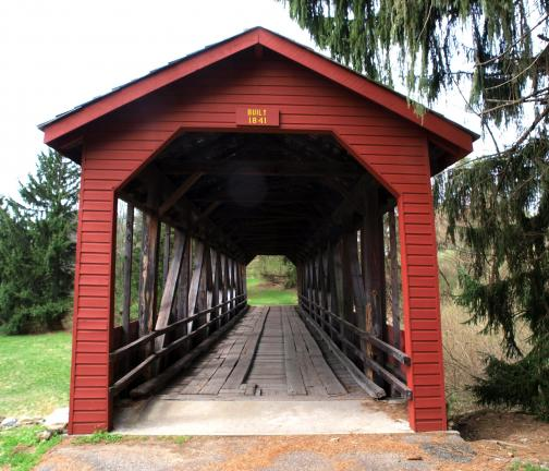 AL ZAGOFSKY/SPECIAL TO THE TIMES NEWS When the Big Creek Valley was flooded to create Beltzville Lake, residents asked the Army Corps of Engineers to save Buck's Covered Bridge. In 1970, it was moved to its current location near Beltzville State…