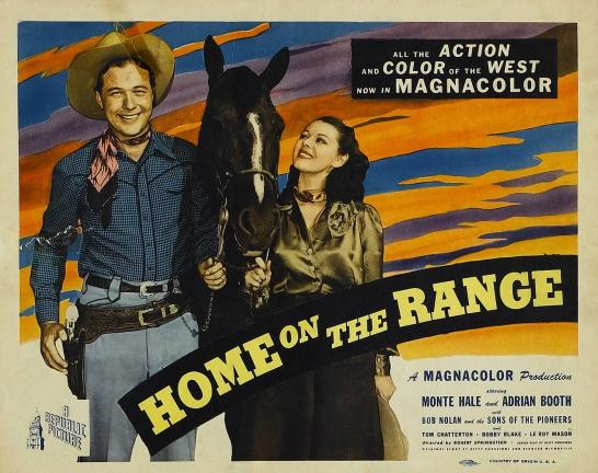 1945 film inspired by Home on the Range, a song made famous by a David Guion arrangement.
