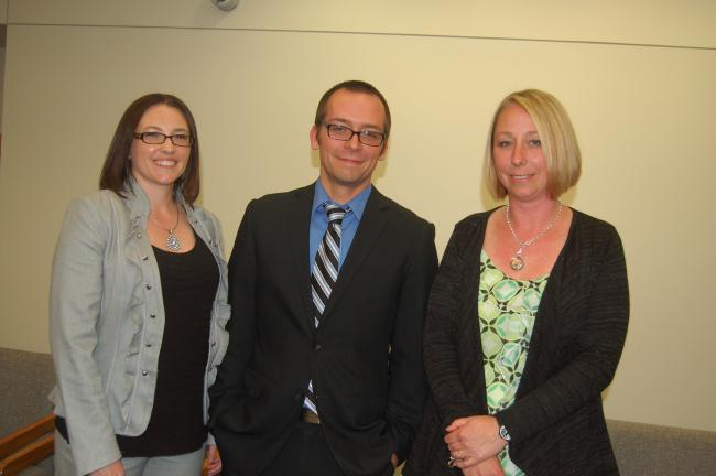 TERRY AHNER/TIMES NEWS Newly appointed administrators in the Northern Lehigh School District include (l-r) Tanya Simms, high school assistant principal, Scott Pyne, principal, Slatington Elementary, and Michele Dotta, director of special education.