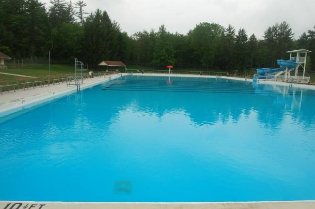 TERRY AHNER/TIMES NEWS A look at the Palmerton Memorial Pool, which is set to open for its 67th season at 1 p.m. Saturday.