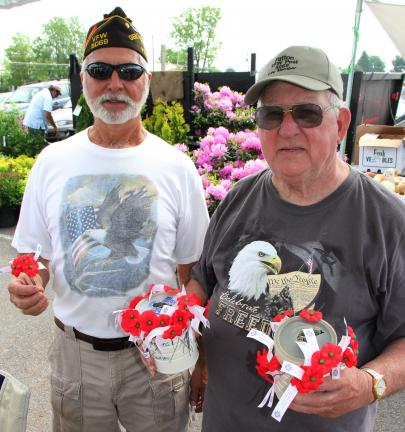 ANDREW LEIBENGUTH/TIMES NEWS Like many VFW Posts around our region, members of the Andreas VFW Post 5069 are out in force offering poppies to passersby. The VFW conducted its first poppy distribution before Memorial Day in 1922, becoming the first…