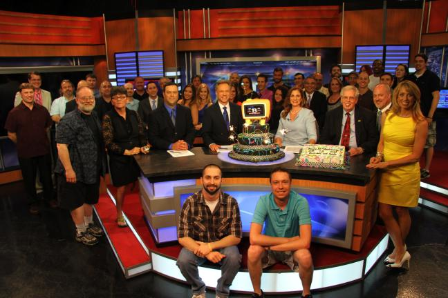 Special to the Times News The staff of Blue Ridge Cable Channel 13 News posed for a picture at the conclusion of their 25th anniversary newscast.