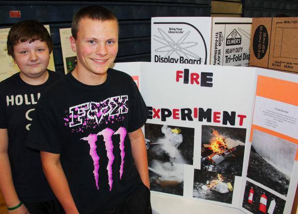 Just under 440 students participated in the Tamaqua Area Middle School's science fair showcase held recently in the school auditorium. On hand were science teachers Ed Mariano, Mike Luna, Joe Ruddy, Lauren Elston and Mike Murphy. Middle School…