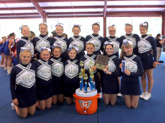 SPECIAL TO THE TIMES NEWS Tamaqua Area High School cheerleaders recently attended Pine Forest Cheerleading Camp, where they earned several awards. Team members include, front row from left, Jessica Jackowski, Amy Bachert, Alissa Hollenbach, Bethanny…