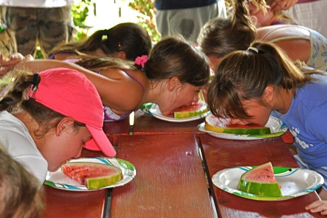 VICTOR IZZO/SPECIAL TO THE TIMES NEWS The watermelon eating contest seemed to be the perfect contest for a hot summer day,