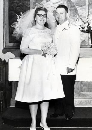 Mr. and Mrs. Earl Billig on their wedding day