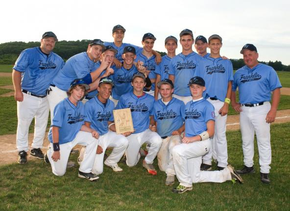 Bob Ford/TIMES NEWS Franklin Township captured the District 4 15-year old championship by defeating Valley on Thursday. Franklin Township now advances to the state playoffs.