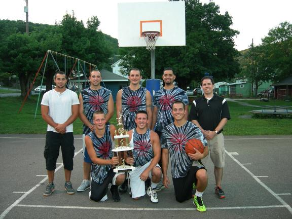 Vesuvio's captured the 2013 Eastern Schuylkill Recreation Commission (ESRC) summer basketball league championship with a victory over previously undefeated Mike Stower Coal & Oil. Team members include, kneeling, from left, Dan Maguschak, Joe…