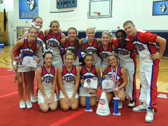 The Jim Thorpe Varsity Cheerleaders attended a National Cheerleaders Association Camp at Elizabethtown College. They won the Champion Chant Award, Game Day Top Team Trophy, and the Spirit Megaphone. Three members were selected to the All-American…
