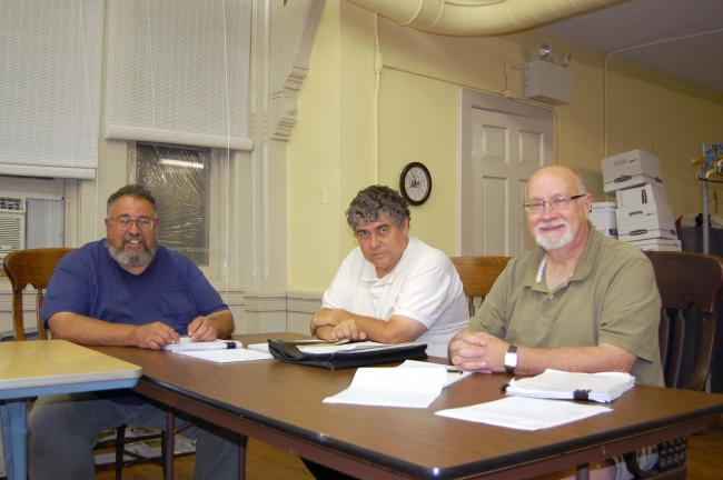 CHRIS PARKER/TIMES NEWS Lansford Planning Commission reorganized last evening. Members are, from left, Michael Kafkalas Jr., vice-Chairman; John Oransky and secretary Martin Ditsky.