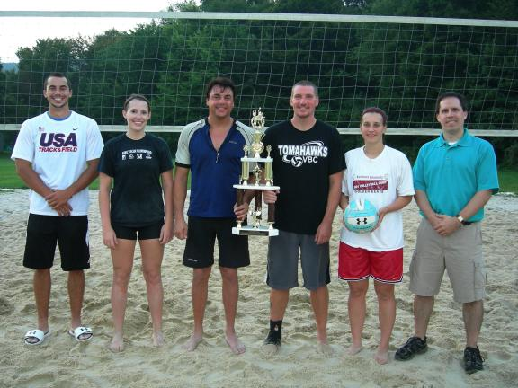 VBC Tomahawks-Seniors won the 2013 Championship of the Eastern Schuylkill Recreation Commission (ESRC) summer volleyball league on Thursday evening by defeating Victorious Secret 25-15, 25-21, 25-22 in a best-of-five championship match at Black…