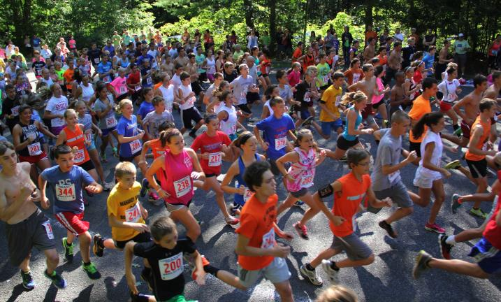 ANDREW LEIBENGUTH/TIMES NEWS Over 370 participants took part in this year's Truskey Memorial Run at the Tuscarora State Park in Barnesville.