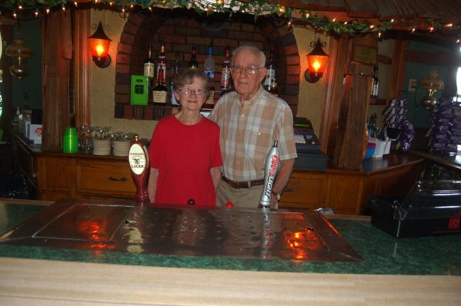TERRY AHNER/TIMES NEWS Owners Gloria and Mike Kravetz have decided to retire from the Berlinsville Hotel. Mike Kravetz has run the business for 62 years.