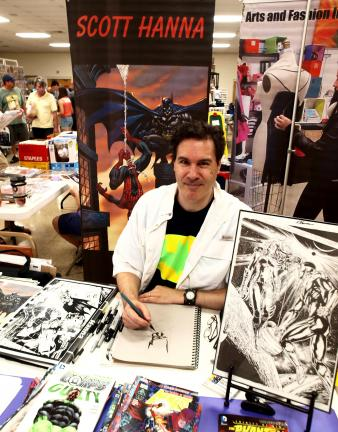 Scott Hanna from Riegelsville is an inking artist that draws for both Marvel and DC comics. He is currently working on Iron Man, Wolverine Infinite, and the Adventures of Superman.