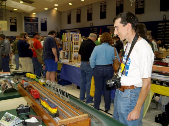 Chris kulp/special to the times news @Caption Stand Alone:Enjoying model train show The Lehigh Valley Chapter of the National Railway Historical Society Presents the 37th Annual Railroadiana & Model Railroad Show & Sale at Dieruff High School,…