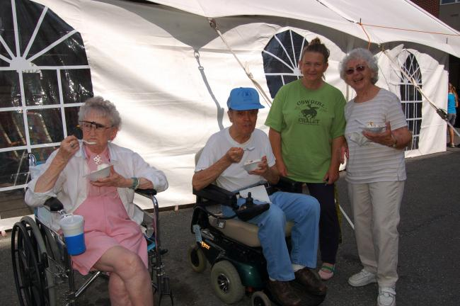 Gail Maholick/TIMES NEWS Enjoying the Fall Fest are from left, Lucille Novak and Grant Arner, residents at the The Summit at Blue Mountain Nursing and Rehabilitation Center; Beverly Welch and Pauline Arner.