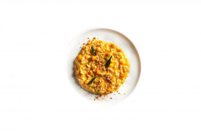 PHOTO COURTESY CULINARY INSTITUTE OF AMERICA Risotto with Pumpkin and Parmigiano Reggiano