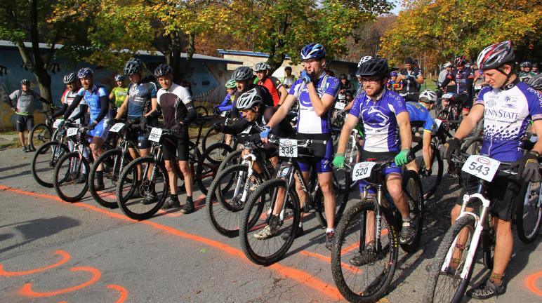 ANDREW LEIBENGUTH/TIMES NEWS Riders prepare themselves at the starting line.