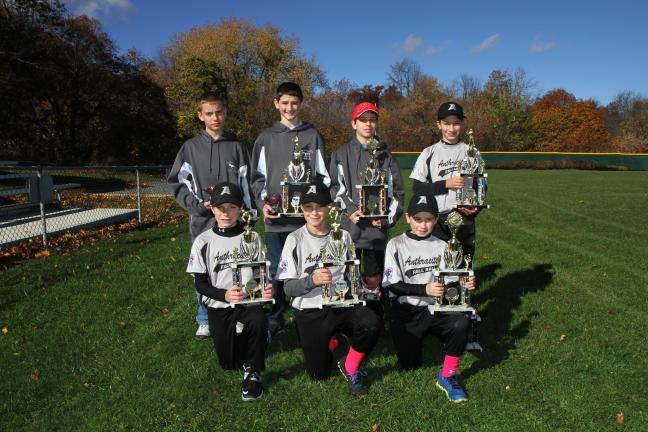@Caption Stand Alone:Anthracite Little League Awards The Anthracite Little League program handed out it awards for the 2013 season. Winners included, front row, from left, Chuckie Byers, American Legion (Most Wins), Josh Robin, VFW (Home Run & Most…
