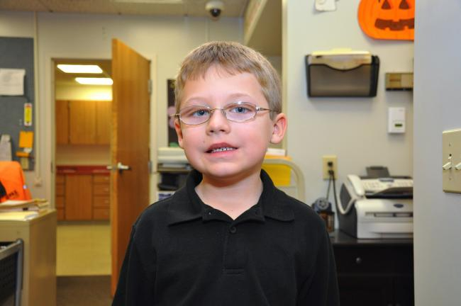 "Michael Sommers, Panther Valley Elementary, first grade ""Spending time together with my family."""